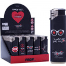 grossiste Briquets: briquet électrique  amour BLACK & RED, 8 x 2cm