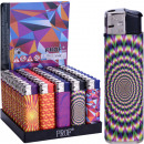 wholesale Lighters: Lighter electric  Psychedelic art, 8 x 2c