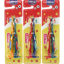Toothbrush Elina 2er for children with foot to Auf