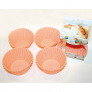 wholesale Casserole Dishes and Baking Molds: Bakeware silicone set of 4, each 7,5x 6,5cm