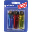 wholesale Lighters: Lighter Disposable  3er friction wheel on card