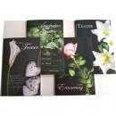 Großhandel Geschenkartikel & Papeterie: Karte Trauer  Blumendruck auf schwarzem Untergrund