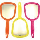 groothandel Badmeubilair & accessoires: Mirror handspiegel  21x10cm kleuren van het neon 4-