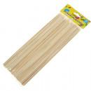grossiste Décoration: brochettes en bois 80 Paquet 25cm