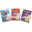 grossiste Bricoler et dessiner: Peinture et  puzzles livre 64  pages DIN A6 + 6 ...