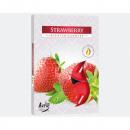 Teelichte geur 6 Strawberry verpakking gekleurde