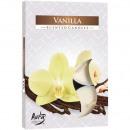groothandel Home & Living: Teelichte geur  vanille 6 kleur. Packaging