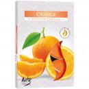 Teelichte parfum 6 Orange dans un emballage farbie