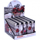 wholesale Lighters: Lighter electric  motif Amore black / red 5-fa