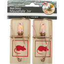 wholesale Household Goods: Mausefalle set of  2 wood 9,5x4,8cm in polybag