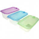 groothandel Keukengerei: Frischhaltedose 3  maten + kleuren geassorteerd , P