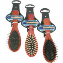 wholesale Drugstore & Beauty: Hairbrush wood  massage 18cm 3- times assorted
