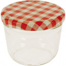 wholesale Drinking Glasses: Jar / Sturgeon  with checkered lid 230ml