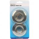 groothandel Reinigingsproducten: Drain filters set  van 2 chromen 7cm Kaart
