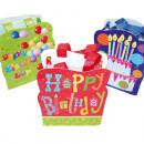 grossiste Cadeaux et papeterie: Sac cadeau Happy  Birthday , 18x14x6cm,