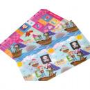 groothandel Tafellinnen: Placemat 44x28cm  PP piraat en Girl, 2 Thema's