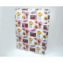 grossiste Cadeaux et papeterie: Sac cadeau Design  XL 34,5x25x8,5cm Blumenmix