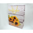Sacchetto del regalo XL 34,5x25x8,5cm Sonnenblumen