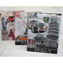 mayorista Regalos y papeleria: 23x18x8cm bolsa de regalo de Italia, París y Nueva