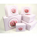 Boxing set of roses and stripes, 6 different sizes