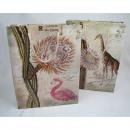 Geschenktasche Flamingo und Safaridesign 23x18x8cm