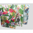 Gift tas XL Flamingo, cactus en papegaai