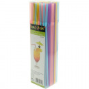 wholesale Household Goods: Drinking straws  100 pastel colors 21cm kinkable