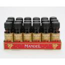 Huile d'amande parfum 10ml emballé dans une bo