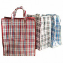 groothandel Boodschappentassen: Bag XL 40x45x18cm geruite