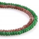 groothandel Beads & Charms: Jade - Facet rondelle grootte