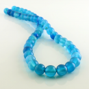 ingrosso Beads & Charms: Sfere blu agata strips - 8 mm