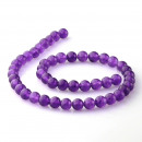 ingrosso Beads & Charms: Jade viola - conti - 8 mm