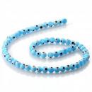 grossiste Bijoux & Montres: Turco oeil bleu  clair - perles - 6 mm