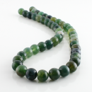 Dark Moss Agate - beads - 8 mm