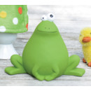 Keramikfrosch Grün Sitzend