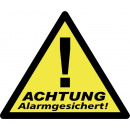 Großhandel Wandtattoos: Warnaufkleber  Alarmgesichert Wak-A, 3er Pack