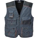 Großhandel Arbeitskleidung: ARBEITSWESTE GRAU/SCHWARZ GR. 54