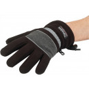 Großhandel Fashion & Accessoires: Handschuhe Fleece  Gr.L schwarz/grau 100%PES wasser