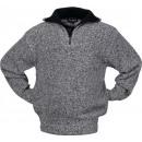 Großhandel Fashion & Accessoires: Pullover Troyer  Gr.M -schwarz/weiß ...