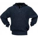 Großhandel Fashion & Accessoires: Pullover Troyer  Gr.XL -schwarz/blau ...