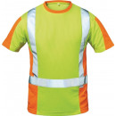 Großhandel Fashion & Accessoires: Warnschutz T-Shirt  Utrecht Gr. XXXL, gelb/orange