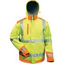 Großhandel Fashion & Accessoires:Warnschutzsoftshellj  acke Rickmer Gr. XL, gelb/oran