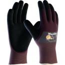 Großhandel Fashion & Accessoires: Handschuhe MaxiDry  56-425 Gr.10 lila/schwarz Nitri