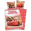 Großhandel Bettwäsche & Matratzen: Cars Bettwäsche  Forever Friends ca. 135 / 200 cm