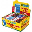 Großhandel Scherzartikel: Hitparade Bubble Gum Sticks mit Zaubertriks 32 Box