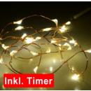Großhandel Garten & Baumarkt: Lichterkette Basics LED Mikro mit Timer, 30er Läng