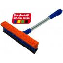 Großhandel Reinigung:/Scheibenabzieher Wascher in BLAU Metallstiel L=31c