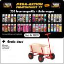 Großhandel Kinderfahrzeuge: Piraten Aktions Paket X S 77- mit 250 Motiv Fzg. M