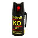 Großhandel Sport & Freizeit: Pfeffer Spray KO JET 50ml mit Fadenstrahl Abwehr&V