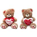 Großhandel Puppen & Plüsch: Plüsch Bär mit HerzI Love You gepunktete füßen&Gli